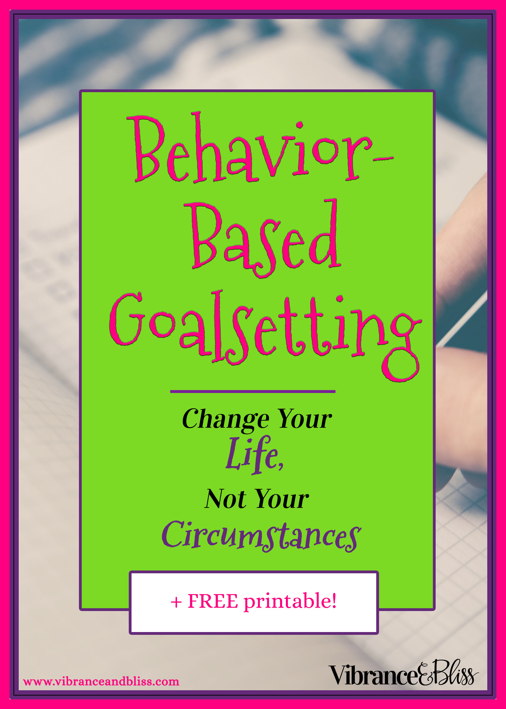 Don't set superficial goals- set goals that will stretch you & help you progress. Set goals that are going to change your behavior and your life.