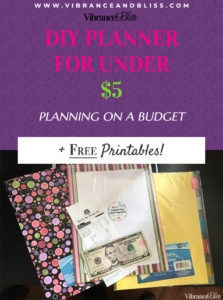 DIY your own planner for less than $5 with a combination of things you probably already have, free printables, and a quick trip to a discount store.