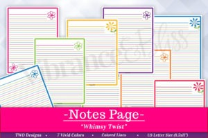 Notes Printable comes in 2 Versatile designs to help you record any number of details in your life! From: lists, ideas, and tasks, to journaling, memories or notes to a friend, your options are limitless with this printable! Use it again and again! In 3 separate formats, there's bound to be one you love!