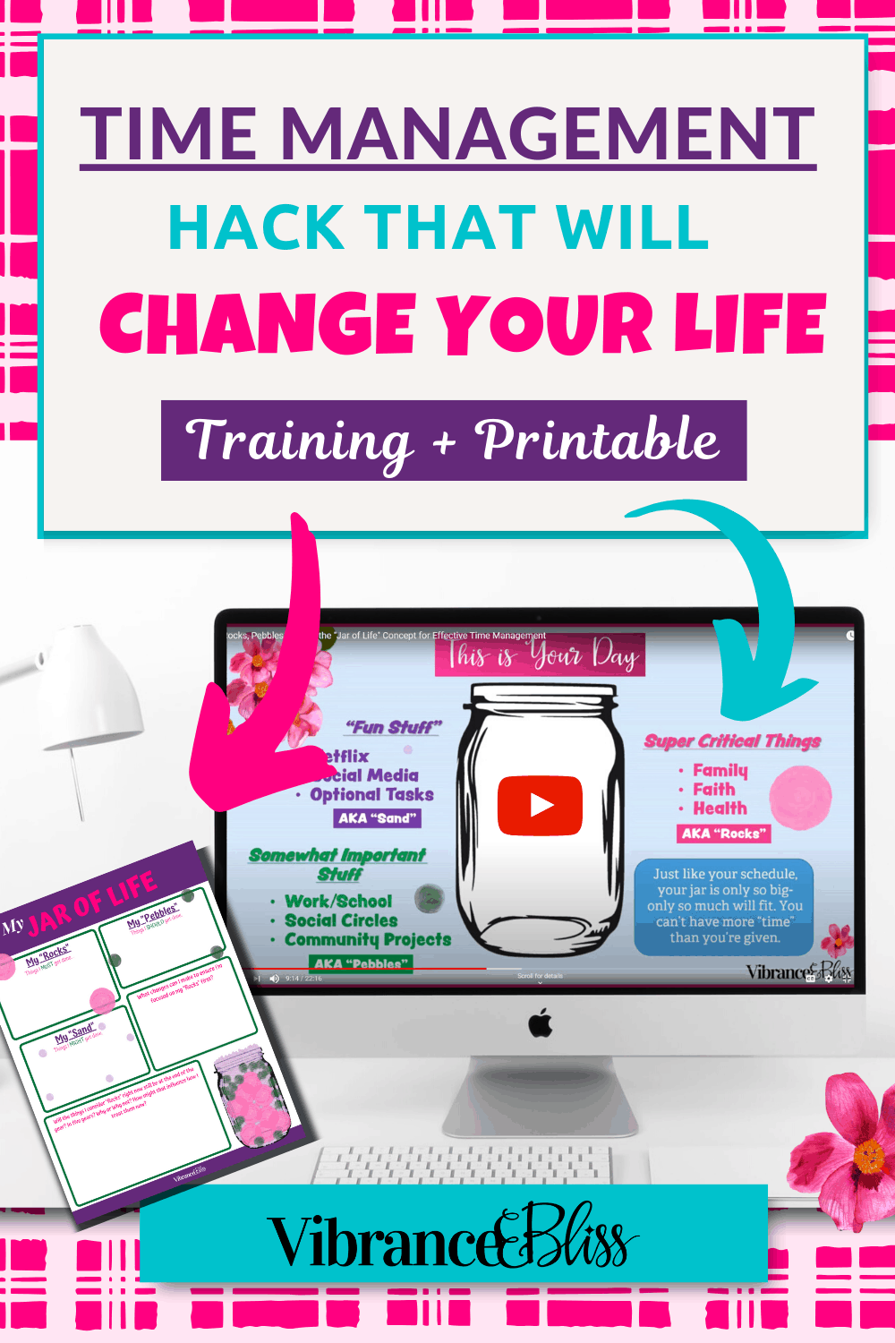 Quick and easy time management hack that change your life- free training & printable.